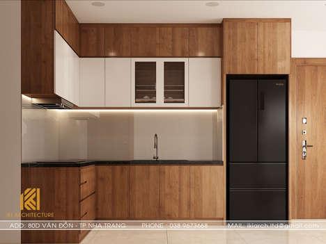 Thiết kế phòng bếp CT2 VCN Phước Hải Nha Trang 65m2 - IKI200004