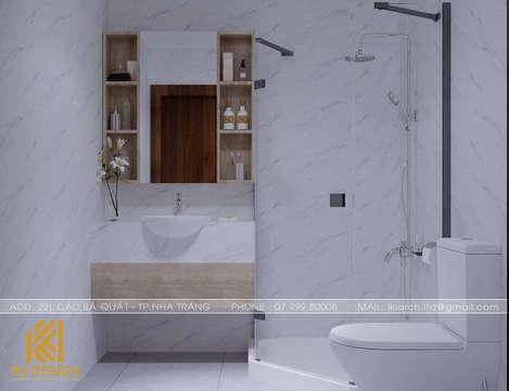 Thiết kế restroom căn hộ CT4 Nha Trang 73m2 - IKI200078