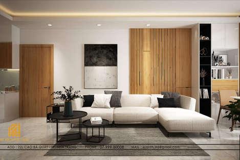 Thiết kế phòng khách căn hộ MTVT OC3 Nha Trang 65m2 - IKI200006
