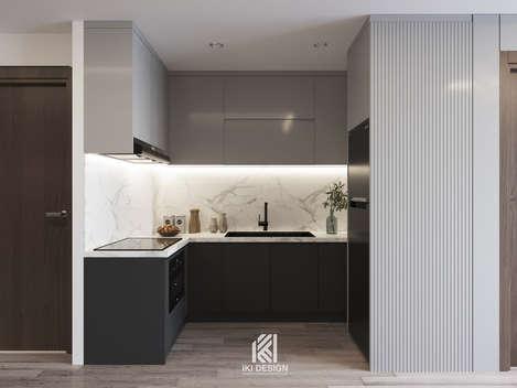 Thiết kế phòng bếp căn hộ HUD Building Nha Trang 65m2 - IKI210062