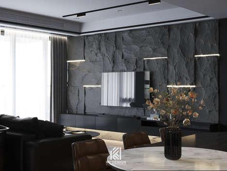 Thiết kế phòng khách căn hộ chung cư Nha Trang 150m2 - IKI210060
