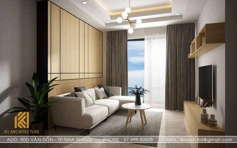 Thiết kế phòng khách căn hộ MTVT OC3 Nha Trang 65m2 - IKI200012