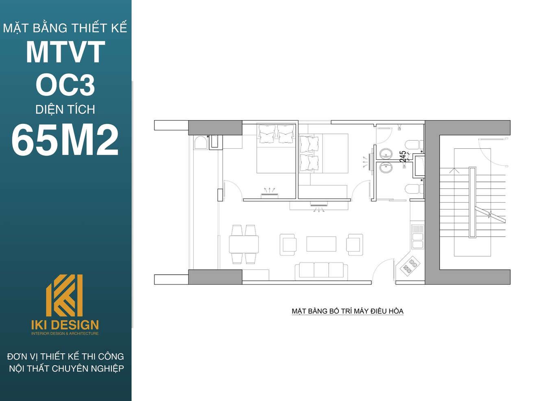 Mặt bằng dự án MTVT - OC3 diện tích 65m2