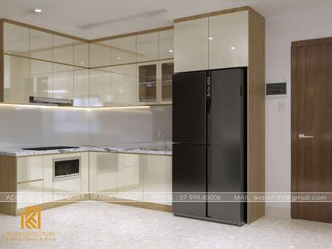 Thiết kế phòng bếp căn hộ CT4 Nha Trang - IKI200042