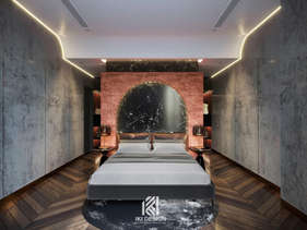 Thiết kế phòng ngủ căn hộ chung cư Nha Trang 150m2 - IKI210061