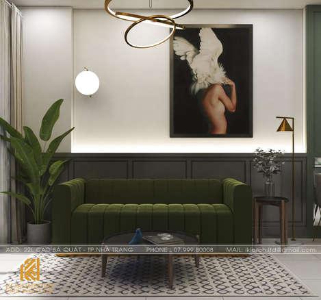 Thiết kế phòng khách căn hộ PH Nha Trang - IKI200034
