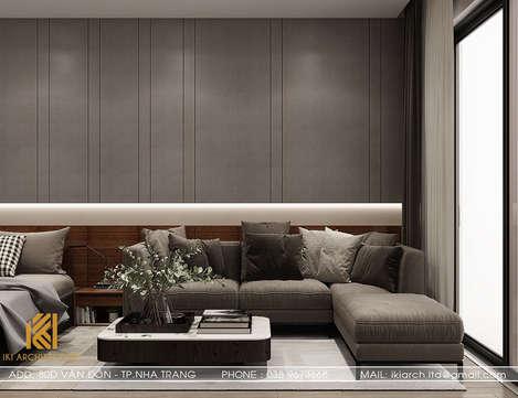 Thiết kế phòng khách căn hộ Panorama Nha Trang 45m2 - IKI190054