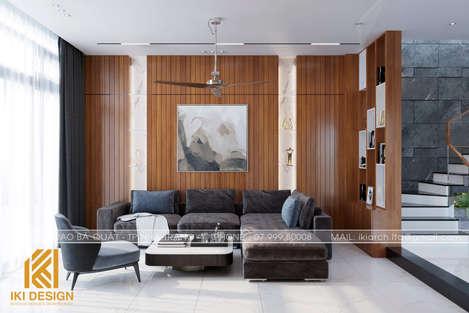 Thiết kế phòng khách nhà phố Nha Trang 200m2 - IKI200056