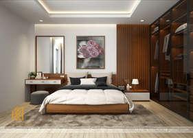 Thiết kế phòng ngủ master nhà phố Nha Trang 120m2 - IKI190018