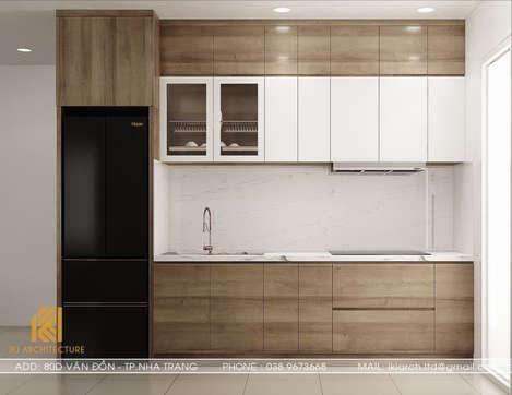 Thiết kế phòng bếp căn hộ CT2 VCN Phước Hải Nha Trang 65m2 - IKI200027