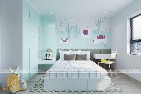 Thiết kế phòng ngủ trẻ em căn hộ CT4 Nha Trang 80m2 - IKI200074