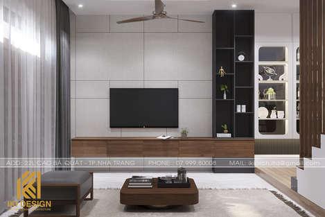 Thiết kế phòng khách nhà phố Nha Trang 270m2 - IKI200045