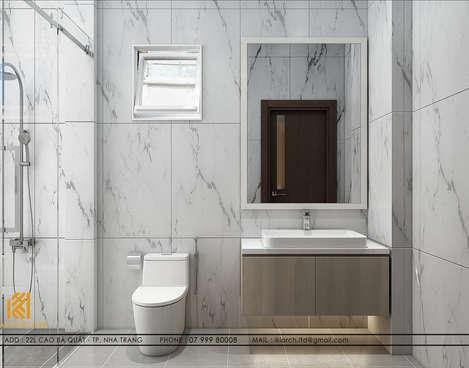 Thiết kế restroom nhà phố chợ Đầm Nha Trang 120m2 - IKI200017