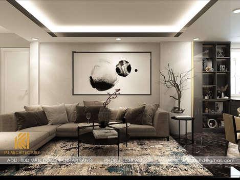 Thiết kế nội thất phòng khách Hòn Rớ Nha Trang 150m2 - IKI190020