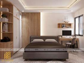 Thiết kế phòng ngủ master căn hộ CT4 Nha Trang 73m2 - IKI200050