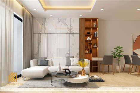 Thiết kế phòng khách căn hộ MTVT Nha Trang 65m2 - IKI200014