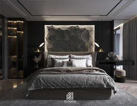 Thiết kế phòng ngủ master căn hộ chung cư Nha Trang 150m2 - IKI210060