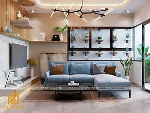 Thiết kế nội thất căn hộ CT4 Nha Trang 73m2 - IKI200050