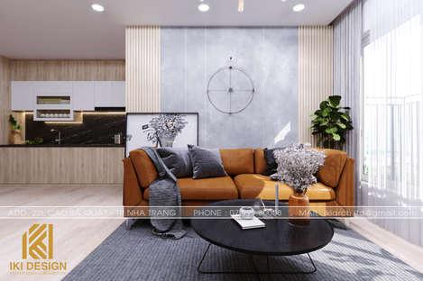 Thiết kế phòng khách căn hộ CT4 Nha Trang 73m2 - IKI200078