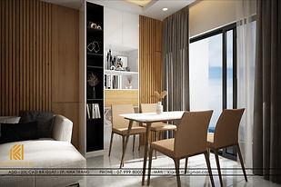 Thiết kế nội thất căn hộ MTVT OC3 Nha Trang 65m2 - IKI200006