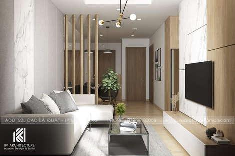 Thiết kế phòng khách căn hộ Hoàng Quân Nha Trang - IKI200032