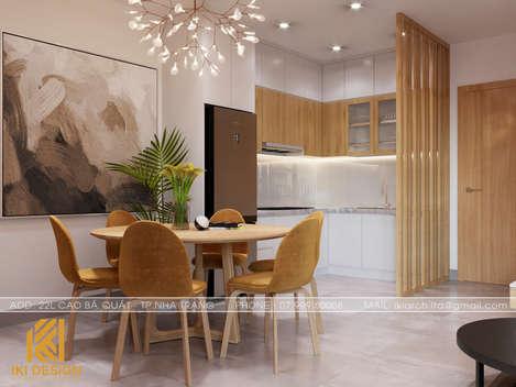 Thiết kế phòng bếp căn hộ CT4 Nha Trang 73m2 - IKI200050
