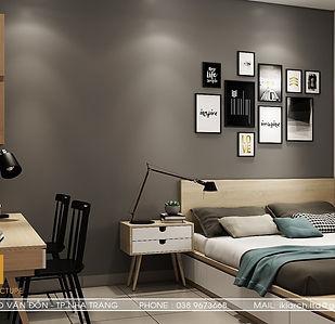 Thiết kế nội thất căn hộ CT2 Nha Trang 65m2 - IKI190061