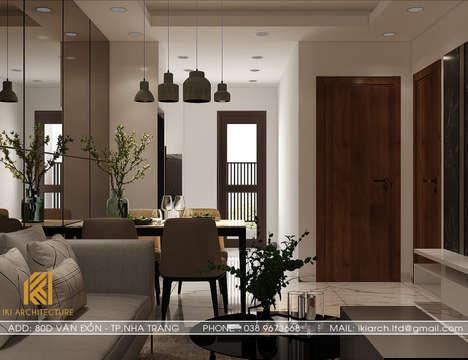 Thiết kế nội thất căn hộ CT2 VCN Phước Hải Nha Trang 50m2 - IKI200005