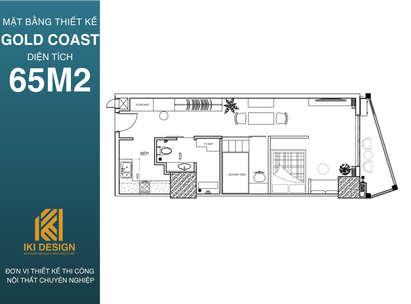 Mặt bằng dự án Gold Coast diện tích 65m2