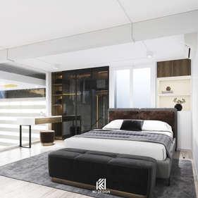 Thiết kế phòng ngủ master căn hộ HIEMEDIA Nha Trang 90m2 - IKI210010