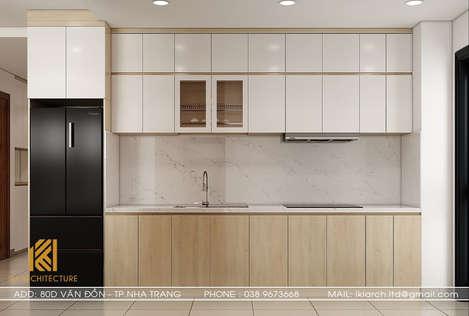Thiết kế phòng bếp căn hộ CT2 Nha Trang 65m2 - IKI190061
