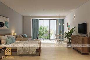 Thiết kế nội thất căn hộ Gold Coast Nha Trang 55m2 - IKI200055