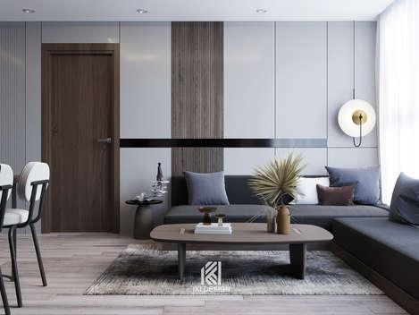 Thiết kế phòng khách căn hộ HUD Building Nha Trang 65m2 - IKI210062