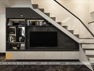 Thiết kế nội thất nhà phố Hòn Rớ Nha Trang 150m2 - IKI190020
