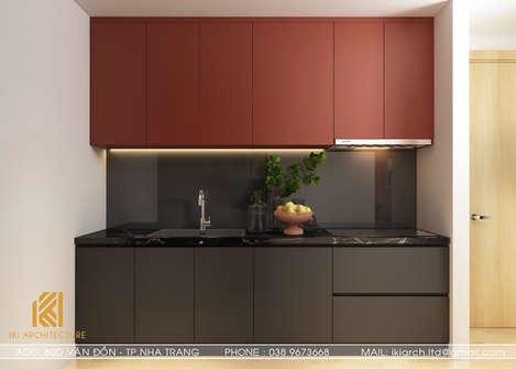 Thiết kế phòng bếp căn hộ Gold Coast Nha Trang 65m2 - IKI200002