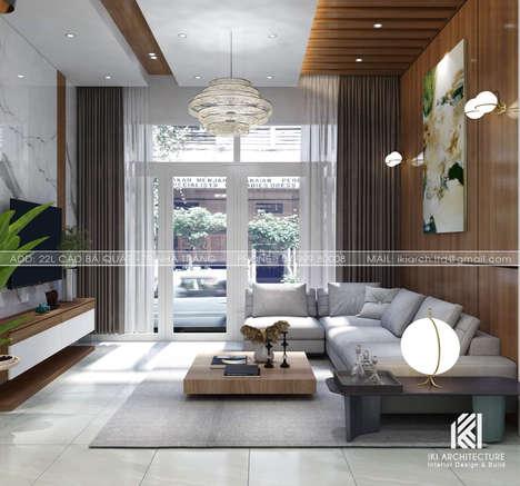 Thiết kế phòng khách nhà phố Nha Trang 150m2 - IKI200035