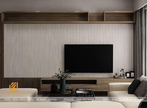 Thiết kế phòng khách căn hộ CT2 VCN Phước Hải ha Trang 65m2 - IKI200027
