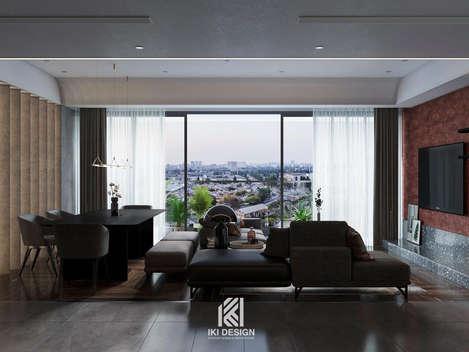 Thiết kế phòng khách căn hộ chung cư Nha Trang 150m2 - IKI210061