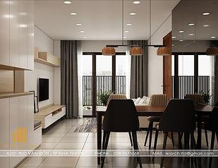 Thiết kế nội thất căn hộ CT2 VCN Nha Trang 65m2 - IKI200001