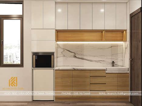 Thiết kế phòng bếp nhà phố Nha Trang - IKI200013