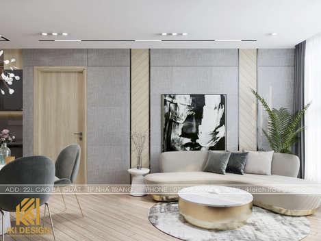 Thiết kế phòng khách căn hộ HUD Nha Trang 66m2 - IKI200000