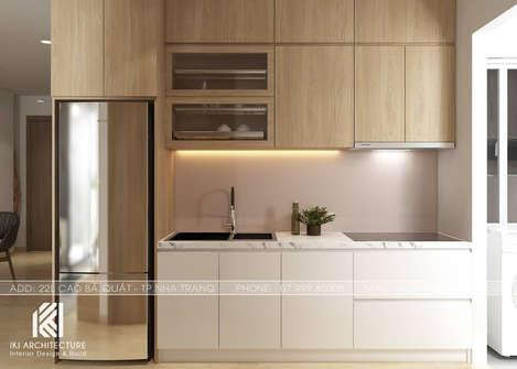 Thiết kế phòng bếp căn hộ Hoàng Quân Nha Trang - IKI200032