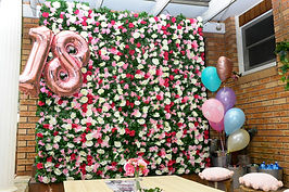 18th Birthday Flower Wall Hire