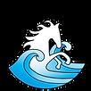 Horse ocean logo transparent background.