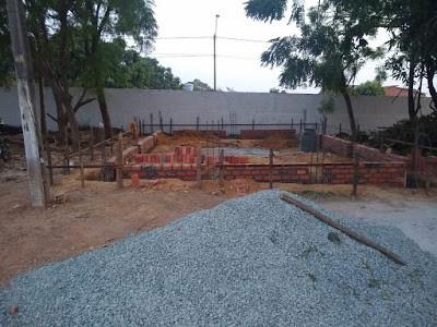 Obras inciadas da primeira capela da Mãe Rainha da diocese de Viana