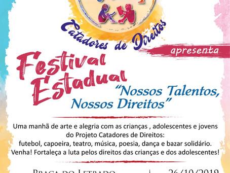"""Festival """"Nossos Talentos, Nossos Direitos"""" acontece este sábado"""