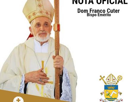Nota Oficial da diocese de Grajaú sobre o falecimento de dom Franco Cuter