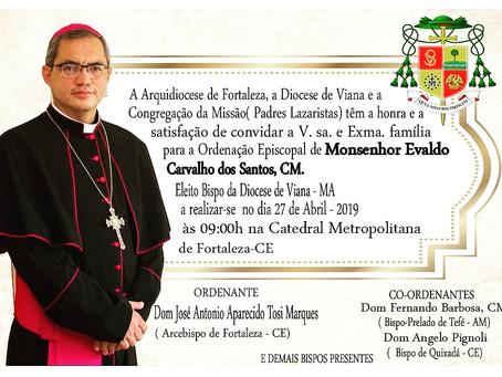 Ordenação Episcopal do novo bispo para a Diocese de Viana