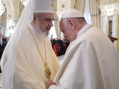 Papa Francisco e o Patriarca Daniel   Francisco encontra o Sínodo permanente da Igreja Ortodoxa Rome