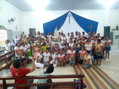 Legionários da paróquia Santa Luzia rezam as 1.000 Ave Marias